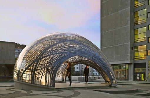 Forschungspavillons der uni stuttgart mach es wie die for Uni architektur