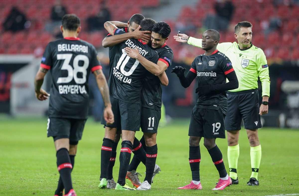 Europa League: Bayer Leverkusen schon so gut wie weiter