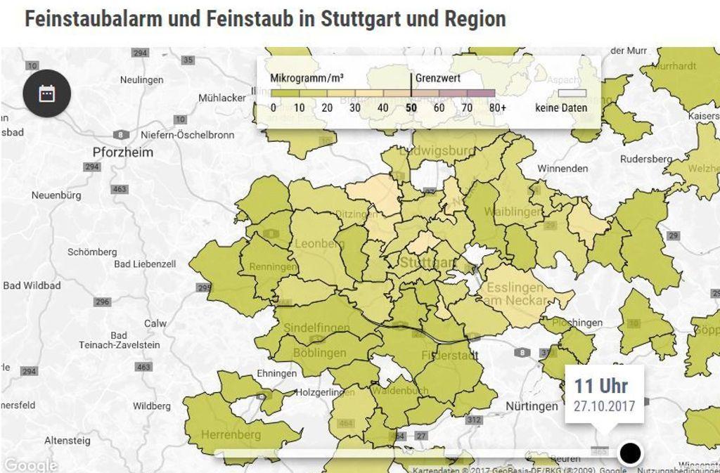 Feinstaubradar Stuttgart So Viel Feinstaub Ist An Ihrem Ort In