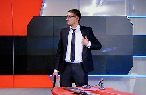 Bewaffneter dringt in TV-Studio ein