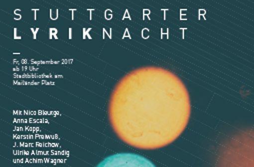 Am 8.9. in der Stadtbibliothek: Stuttgarter Lyriknacht