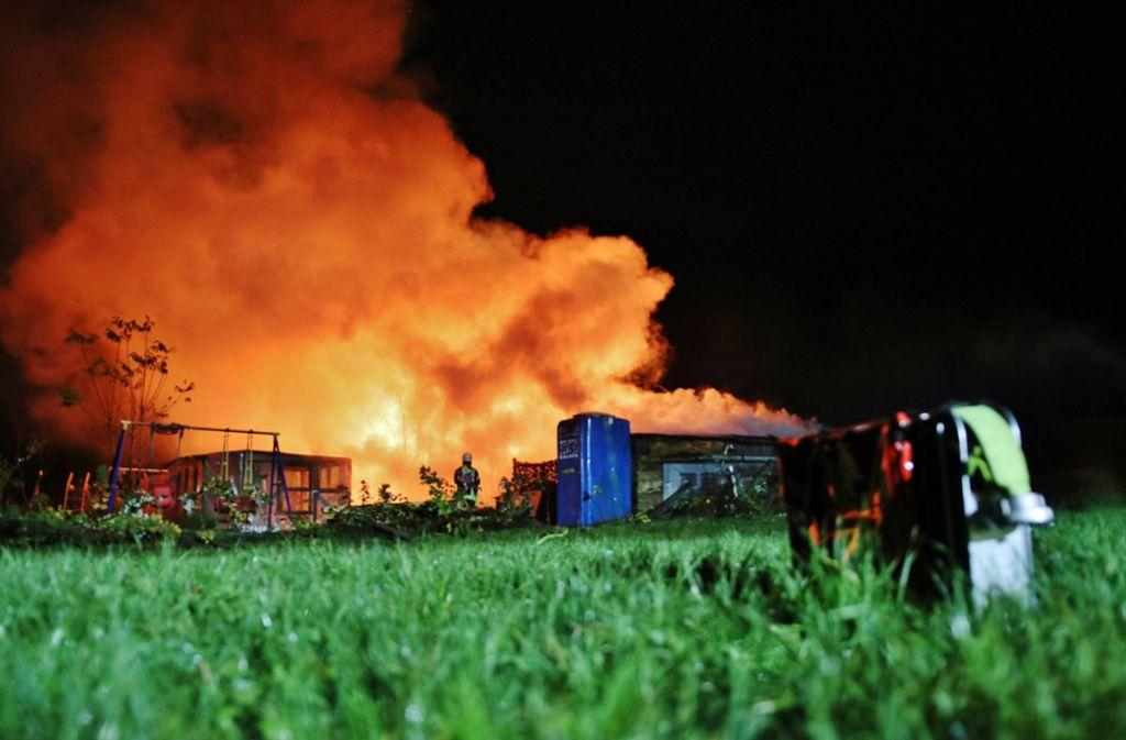 Brände in Sulzbach und Schorndorf - Gartenhäuser in Flammen - Stuttgarter Zeitung