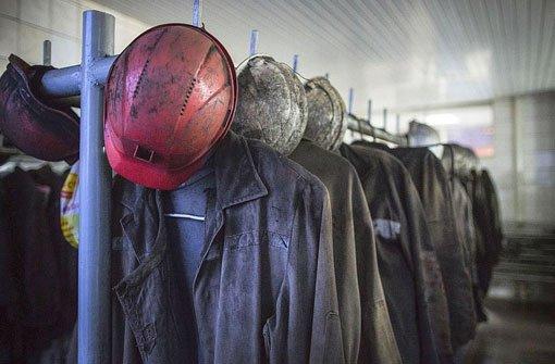 Bergarbeiter unter Tage eingeschlossen