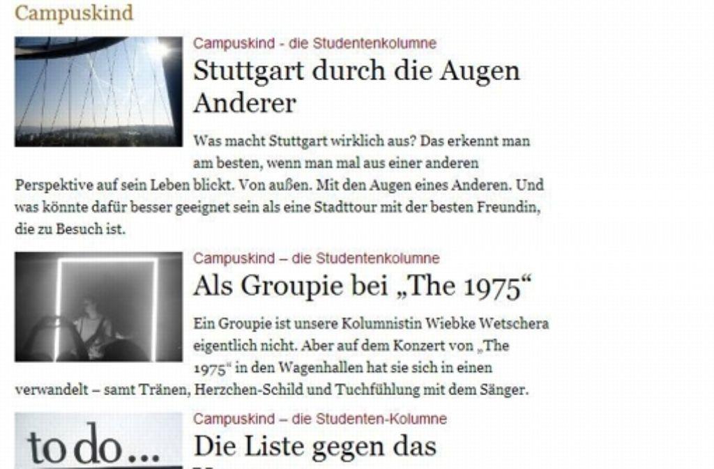 """Neue Kolumne """"Campuskind"""": Das Leben zwischen Hörsaal und Kessel ..."""