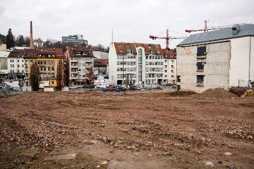 Wir fotografieren die Baustellen in Stuttgart regelmäßig. Diesmal haben wir uns das Areal des früheren Möbelhauses Mammut-Beck und den WGV-Neubau vorgenommen - eine Bildergalerie. Foto: www.7aktuell.de/Gerlach