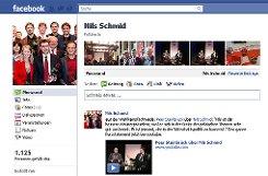SPD-Kontrahent Nils Schmid ist auf Facebook vertreten. Genauso wie ...p Screenshot: SIR