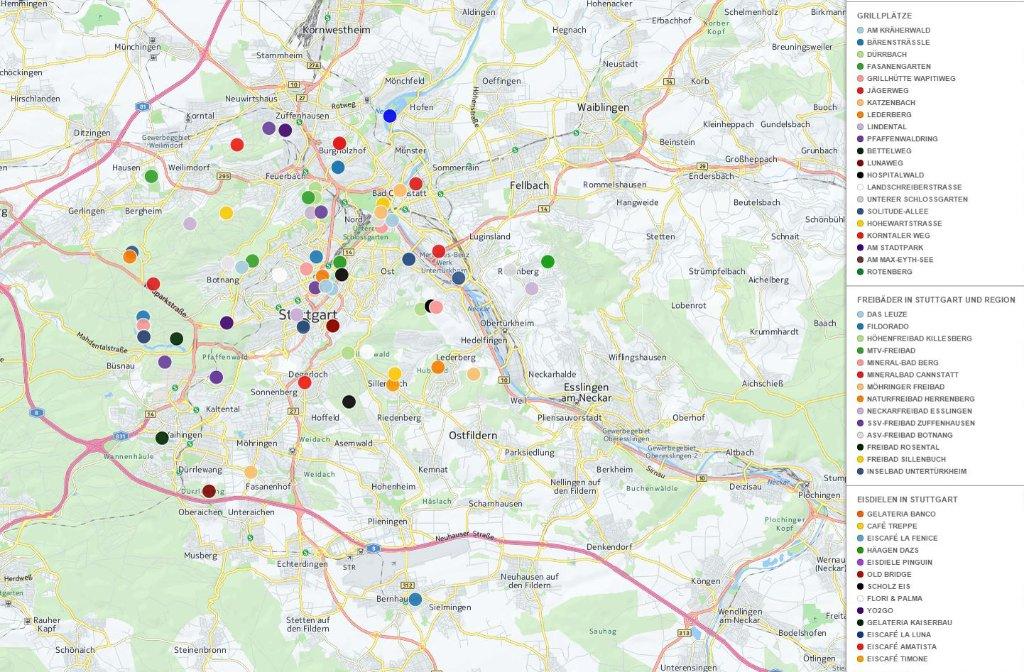 stuttgart karte Interaktive Stuttgart Karte: Alle Stuttgart Highlights auf einen