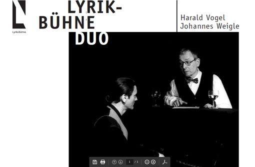 Lyrik-Bühne: Erich Kästner in Esslingen