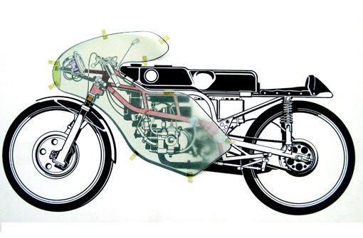 MC o.T. und die Kunst, ein Motorrad zu warten im Projektraum Ostend