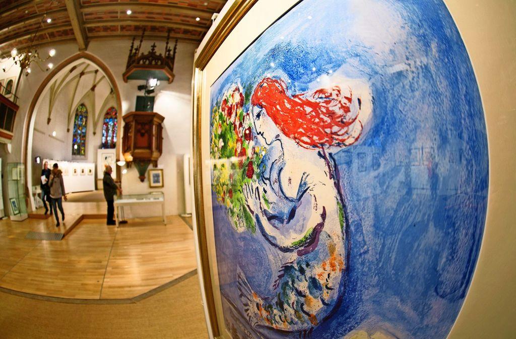 Kunst In Nurtingen Chagall Und Fuchs In Der Kreuzkirche Landkreis
