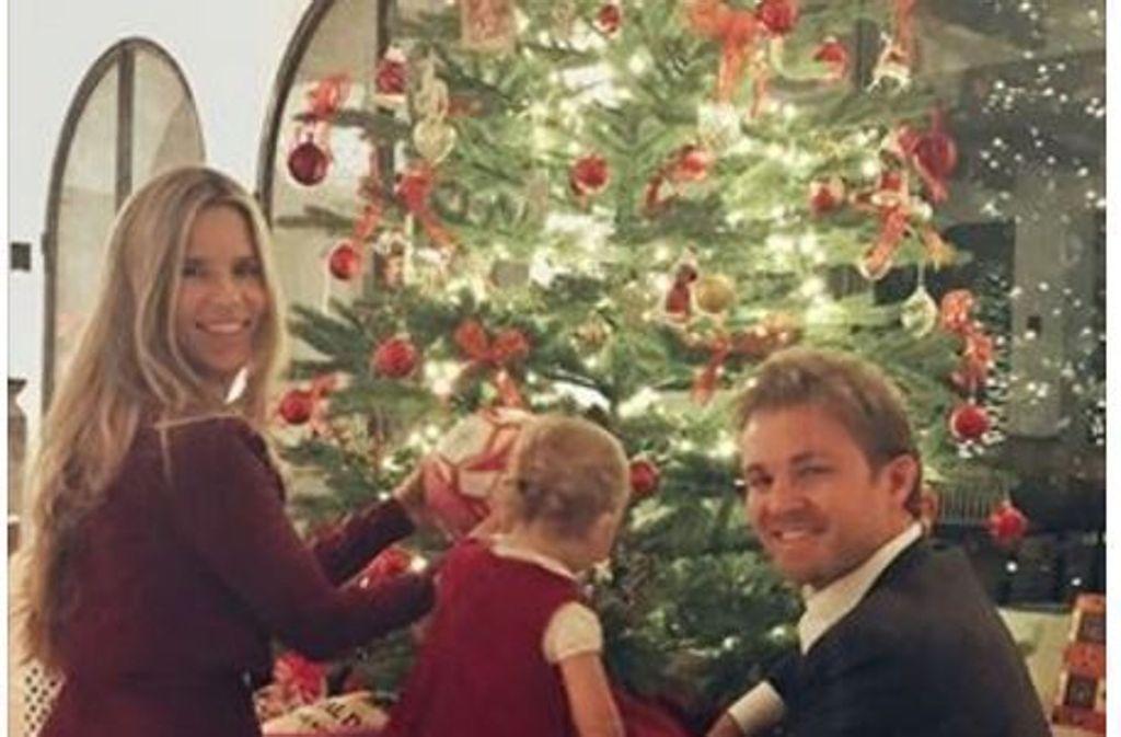 Schweiger, Rosberg und Co.: So feierten die Promis Weihnachten ...