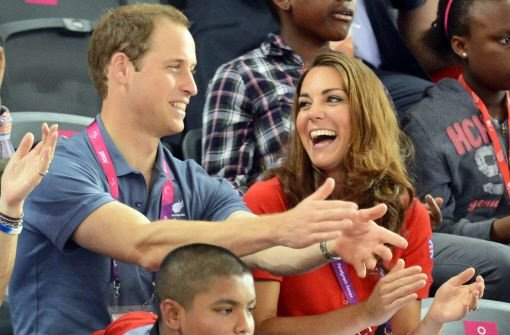 Kate, William und Harry machen Stimmung
