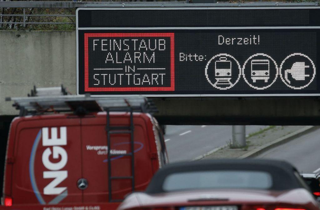 Wetter in Stuttgart - Längerer Feinstaubalarm in Stuttgart möglich - Stuttgarter Zeitung