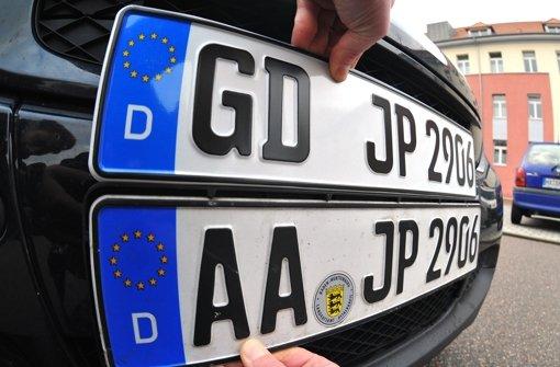 Schwäbisch Gmünd beantragt sein eigenes Kennzeichen. Der Bund muss noch zustimmen. Foto: dpa