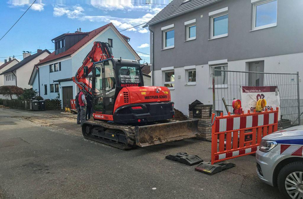 Evakuierung in Ostfildern - Bagger stößt auf Gasleitung - Stuttgarter Zeitung