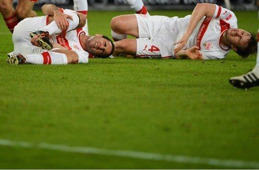 Da gab es nichts zu holen: Die Pleite des VfB gegen Bayern München in Bildern. Foto: dpa