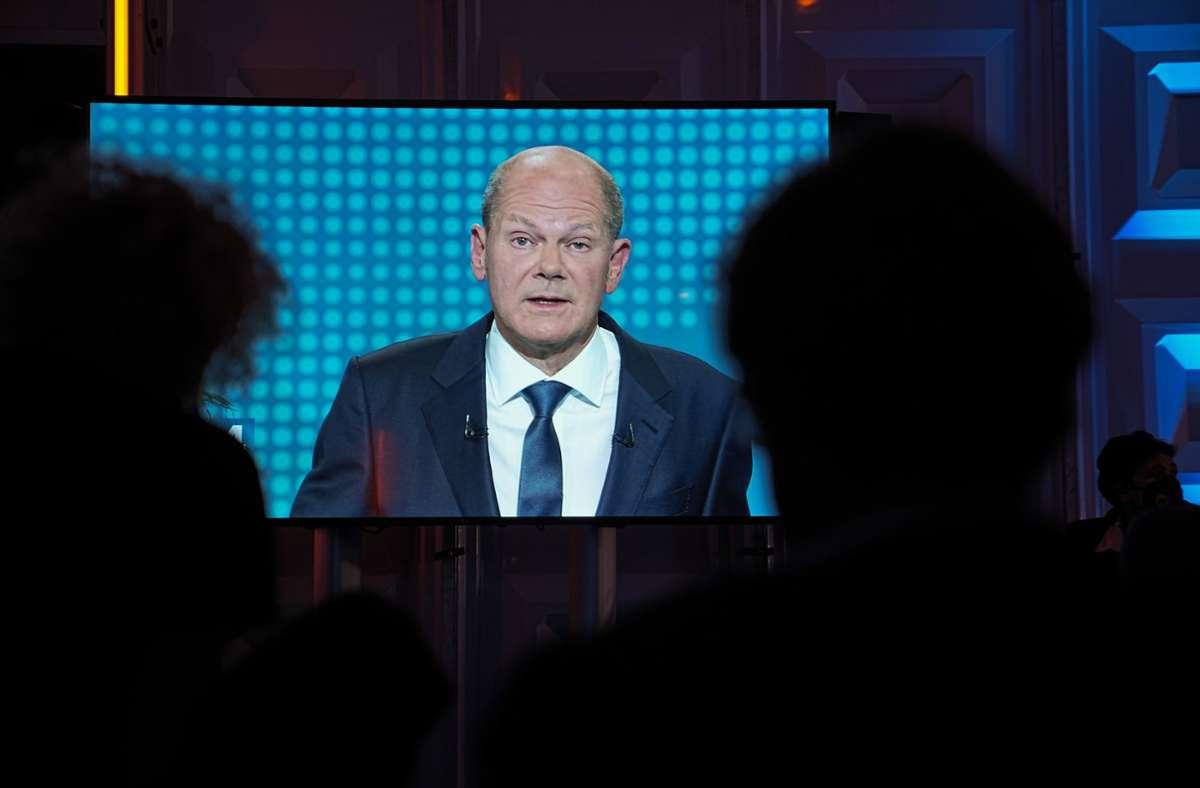 TV Triell zur Bundestagswahl Zuschauer sehen Olaf Scholz als ...