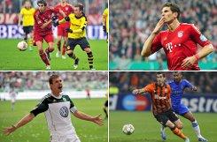 In der Rangliste der teuersten Ein- oder Verkäufe der Bundesliga-Historie steht auf ... Foto: dpa/SIR (Montage)