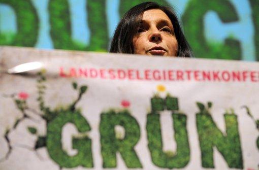 Katrin Göring-Eckardt, Spitzenkandidatin der Grünen, sprach zum Auftakt des dreitätigen Parteitags der Südwest-Grünen in Böblingen. Foto: dpa