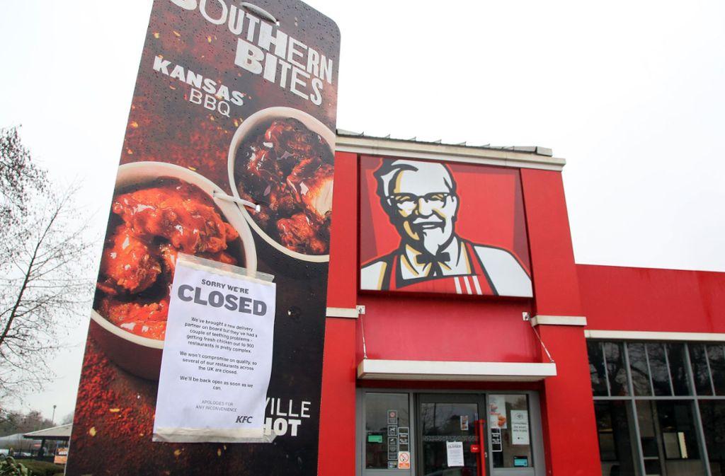 Kentucky Fried Chicken Britischen Kfc Filialen Gehen Die Hhnchen