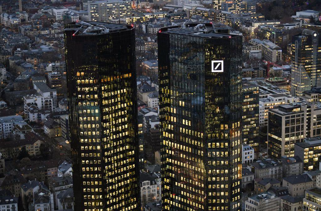Branchenvergleich Wettbewerber Hangen Die Deutsche Bank Ab Wirtschaft Stuttgarter Zeitung