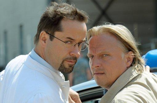 Das Ermittlergespann Axel Prahl (r.) und Jan Josef Liefers ermittelt in Münster. Foto: dpa