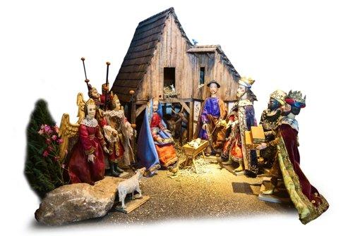 Die Krippenszene um das Jesuskind. Foto: Achim Zweygarth