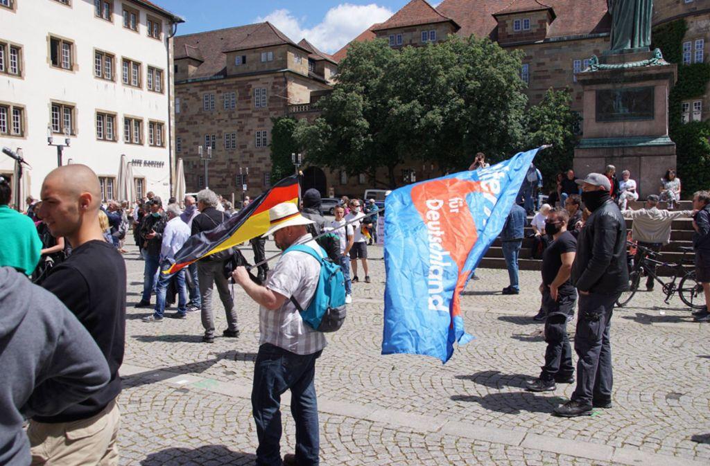 Stuttgart: AfD demonstriert gegen Corona-Beschränkungen