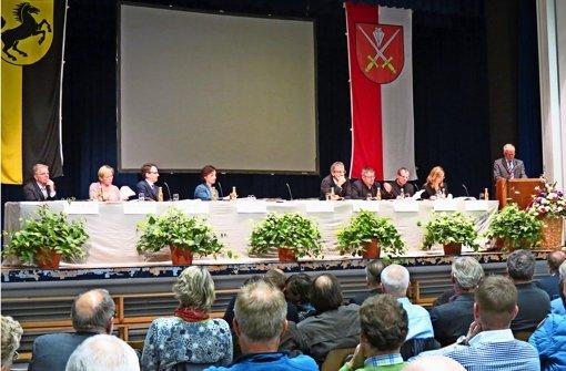 Volles Haus bei der Bürgerversammlung