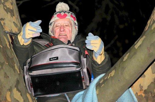 Rentner harrt bei -13 Grad in Platane aus, 06.02.2012, stuttgarter-zeitung.de