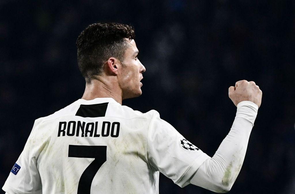 Superstar Von Juventus Turin Cristiano Ronaldo Der Beste