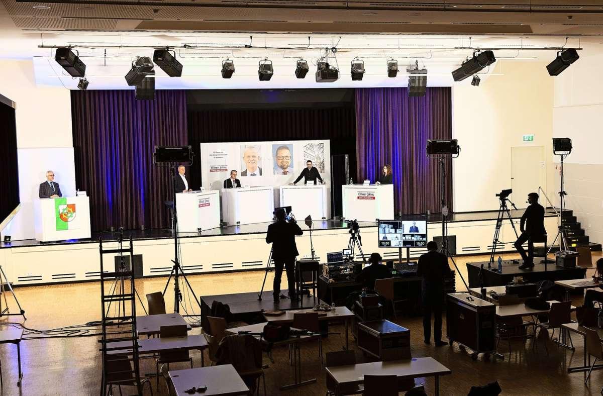EZ-Forum für OB-Wahl in Ostfildern - Einer fordert...