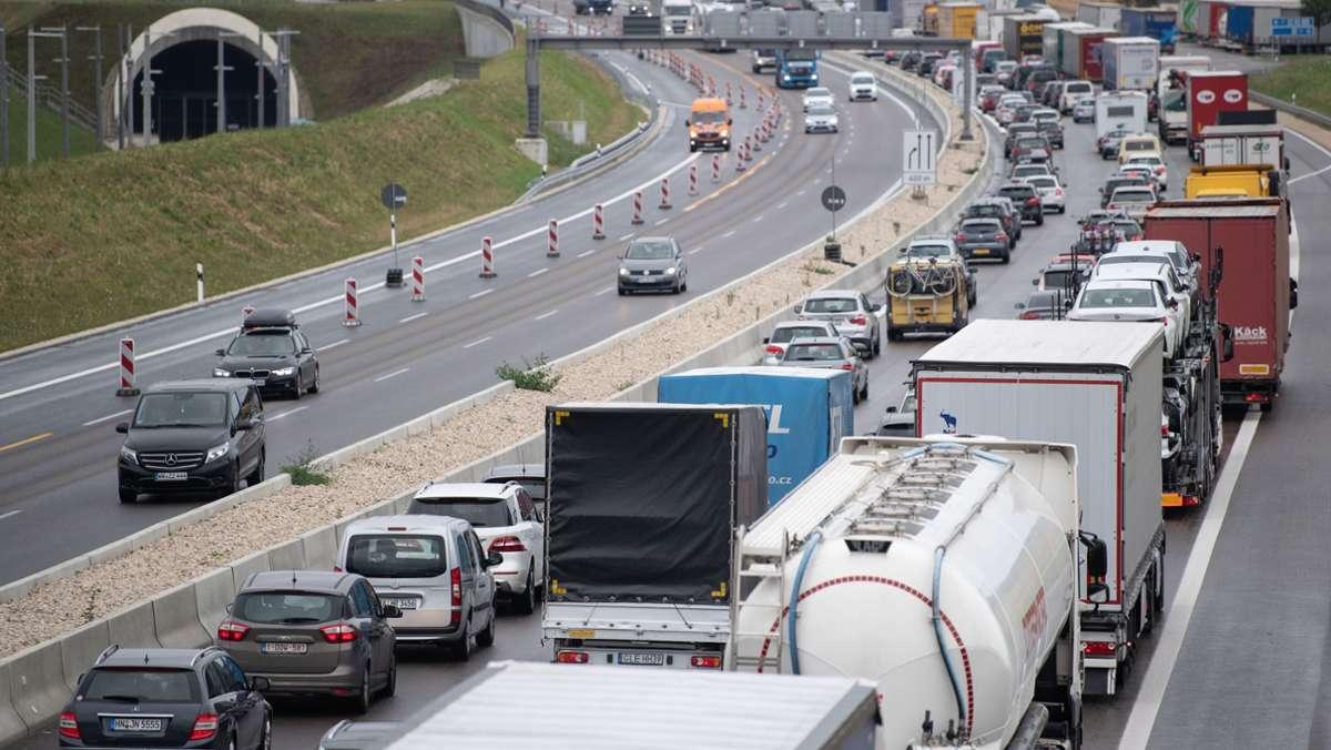 Baustellen Autobahn A8