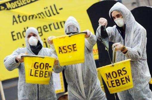 SPD und Grüne in Niedersachsen wollen Gorleben bei der geplanten bundesweiten Suche nach einem Atommüll-Endlager von vornherein ausschließen. Foto: dpa