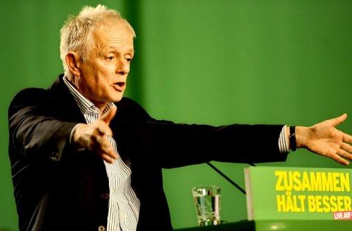 Fritz Kuhn bedankte sich bei seiner Partei für die  Unterstützung im Wahlkampf. Foto: dapd