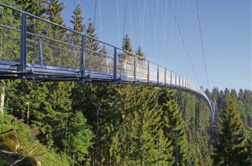 Die Hängebrücke Wildline in Bad Wildbad ist täglich von 9 bis 18.30 Uhr geöffnet
