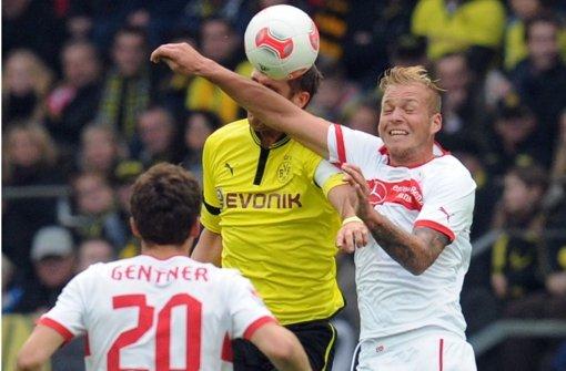 Holzhauser erwischt Kehl, Ibrahimovic und Co. gehen da härter zur Sache. Foto: Baumann