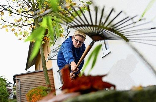 Rutschgefahr auf Blätterteppich