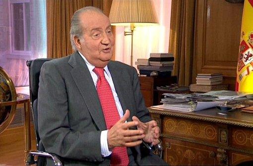 Juan Carlos, König von Spanien, will nicht zurücktreten. Foto: epa efe