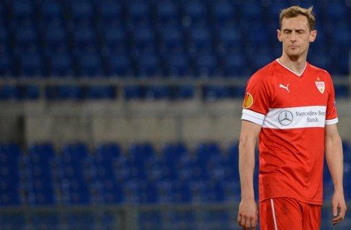 """""""Wir waren eine Klasse schlechter"""", sagt Georg Niedermeier nach der Europa-League-Pleite gegen Lazio Rom. Foto: dpa"""