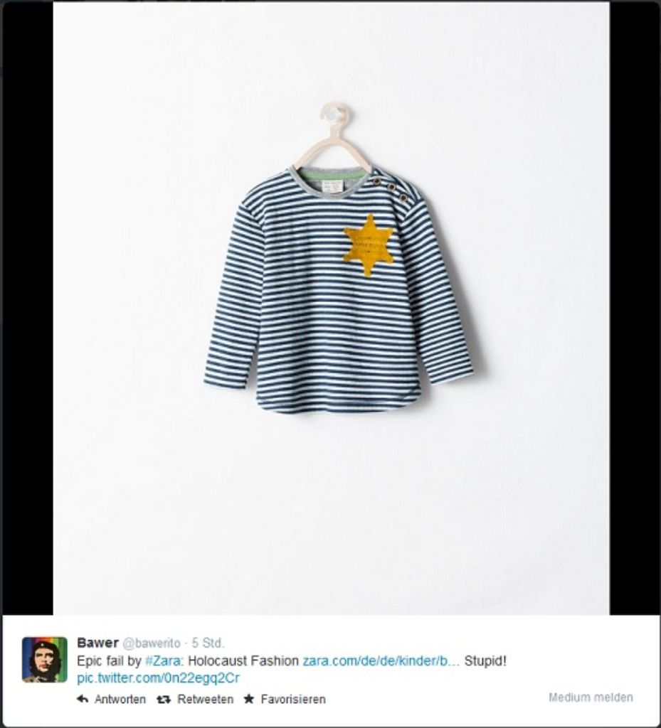 Empörung Um Zara Kindershirt Erinnert An Kz Kleidung Wirtschaft