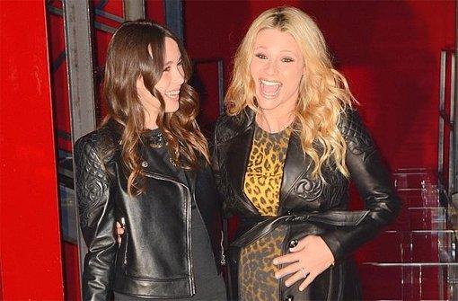 Michelle Hunziker zu Gast bei Versace
