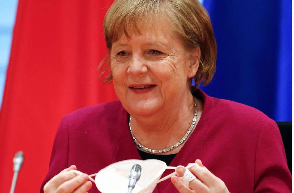 """Coronavirus in Deutschland: Kreise: Angela Merkel sieht """"Licht am Ende des Tunnels"""""""