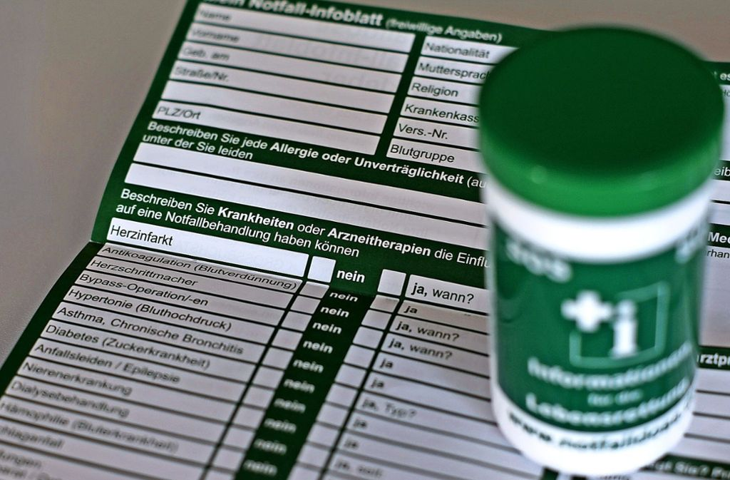 Kühlschrank Dosen : Erste hilfe auf den fildern: wem nützt die notfall dose im