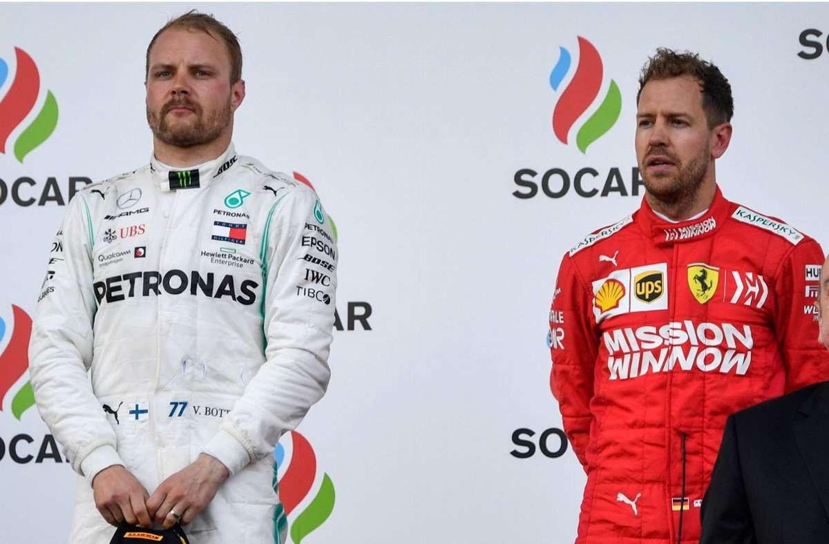 Formel-1-Starterfeld für 2021 nimmt Konturen an: Mercedes hält Valtteri Bottas – für Sebastian Vettel wird es eng