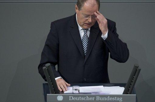 Im Bundestag hat Peer Steinbrück  erstmals über Familienpolitik gesprochen. Foto: dapd