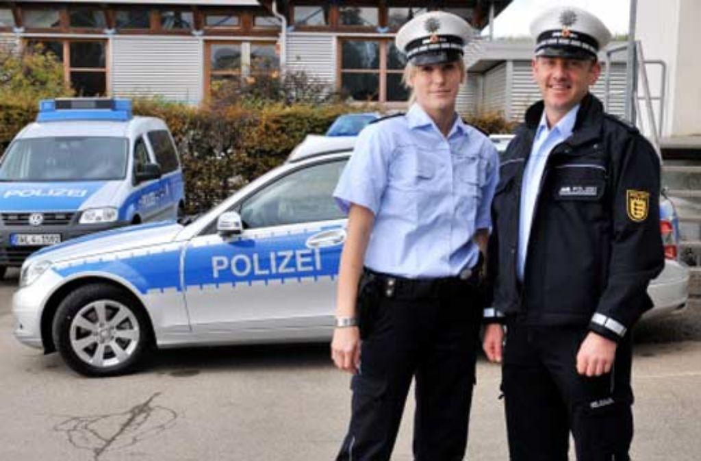 Blaue Polizeiuniform