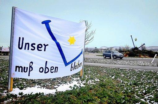 In Löchgau kämpft eine Bürgerinitiative für den Erhalt des Nagelkreisels. Foto: factum/Weise