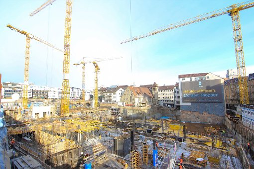Baustellen: Das Gerber im Dezember