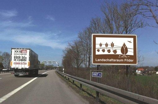 So ein Schild könnte bald an der Autobahn stehen. Foto: JUNG:Kommunikation GmbH